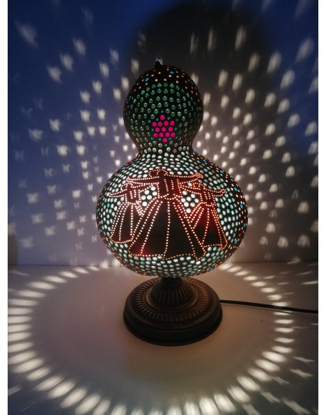 Semazen abajur su kabağı lamba